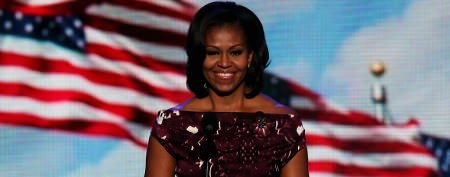 Michelle Obama sports dramatic new hairdo