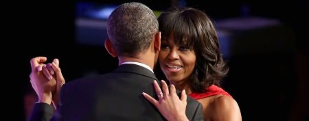Michelle Obama wows at inaugural ball