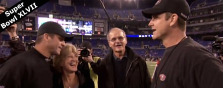 Harbaugh pranks parents with sibling humor
