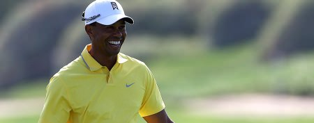 Tiger Woods steps out with fellow athlete