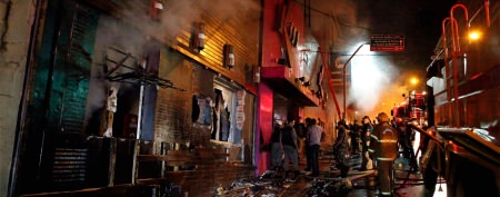 'Barrier of bodies' trapped fire victims