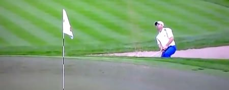 Top golfer flips out in sand trap
