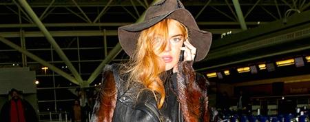 Lindsay Lohan's bizarre travel getup