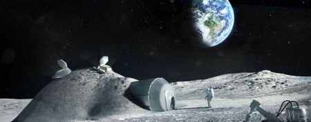 Cheap way to build colonies on the moon