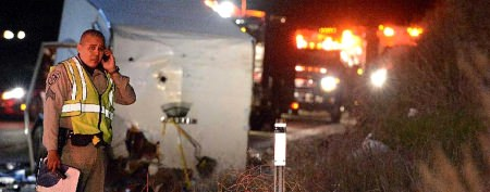8 killed in California tour bus crash