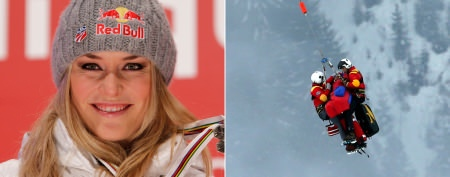 Lindsey Vonn airlifted after scary crash
