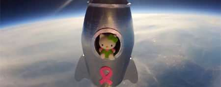 Teen launches Hello Kitty doll into space