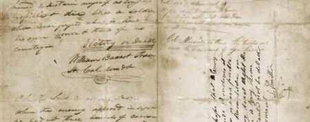 Stirring letter returning to the Alamo