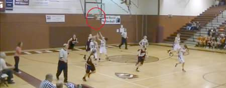Full-court shot made in remarkable way