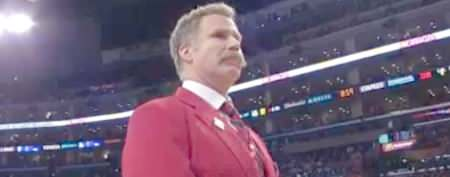 Will Ferrell tries new role at Lakers game