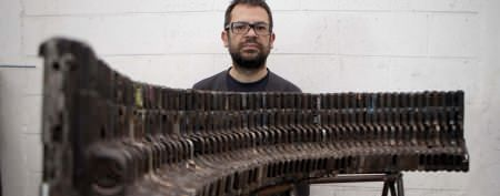 Sculptor transforms weapons into music