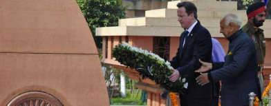Cameron does first for a British PM