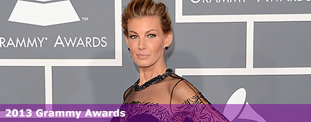 Faith Hill flashes braces on her teeth
