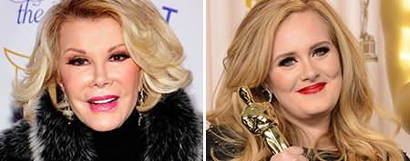 Joan Rivers under fire for Adele fat joke