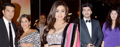 Spotted: Celebs at Filmfare awards