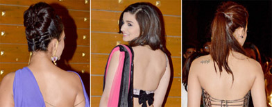 Who flaunts the best bare-back look?