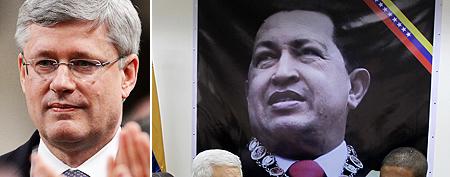 Harper slammed for insensitive Chavez statement