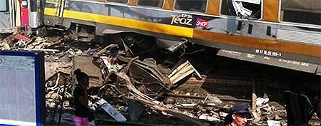 Photos: Scene from the Paris train derailment