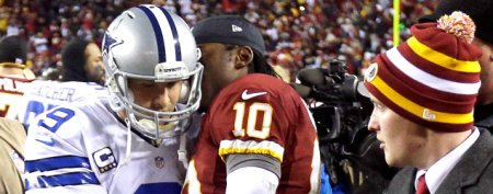 What RG3 whispered in Tony Romo's ear