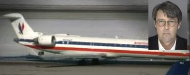 Un avión de American Eagle y la imagen del piloto