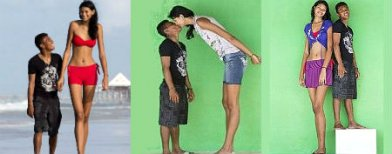 Tallest teen girl, finds love in a short guy