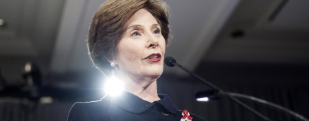 Laura Bush wants out of gay marriage ad