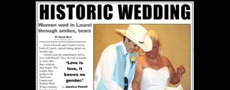 Paper fires back after gay wedding uproar