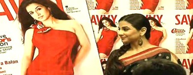 Vidya flaunts curves on magazine cover