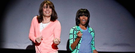 Michelle Obama busts a move with Jimmy Fallon