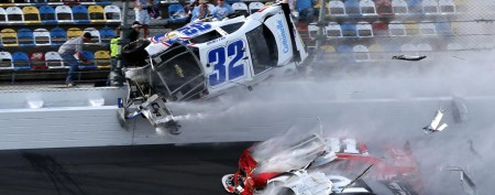 Horrific crash ends Daytona race
