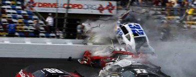 Fiery pile-up at the Daytona speedway