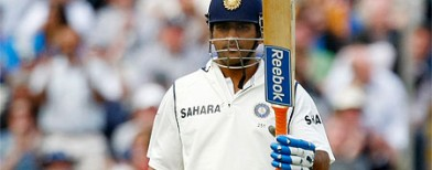 Australia crushed by Dhoni's double