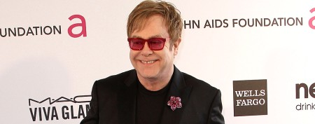 Elton John's sharply dressed toddler
