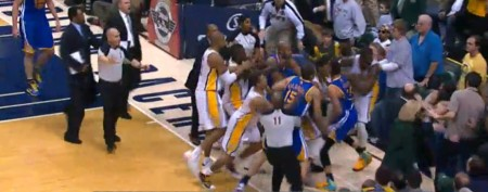 Ugly NBA fight spills into stands