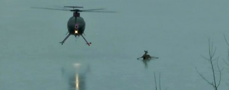 Helicopter pilot pulls off clever deer rescue