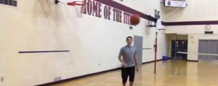 Teen hits improbable basketball shot