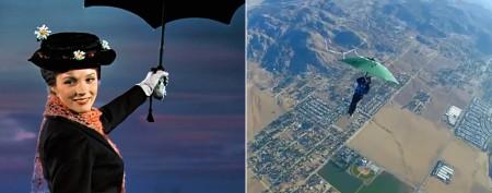 Man tests 'Mary Poppins' umbrella theory