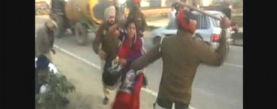 On cam: Punjab cops beat up woman