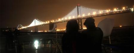 Massive light show on S.F. landmark