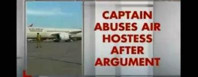 Captain abuses air-hostess mid air