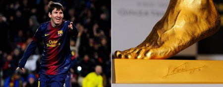 Hefty price for soccer star's golden replica