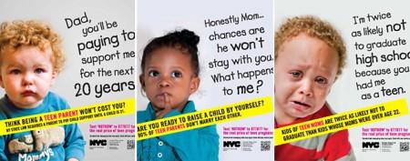 Ads about teen pregnancy slammed