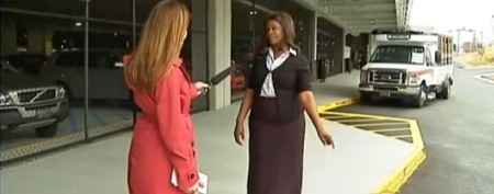 Woman makes surprising find at airport curb