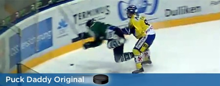 Swiss hockey player paralyzed after hit