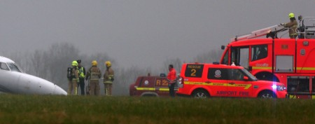 A plane accident shuts down Dublin airport