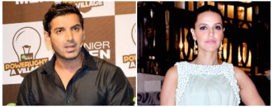 Spotted: John Abraham and Neha Dhupia