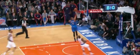 NBA star's embarrassing missed shot
