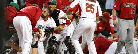 Breach of baseball etiquette leads to huge brawl