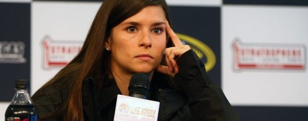 Danica Patrick gets leveled by a rock