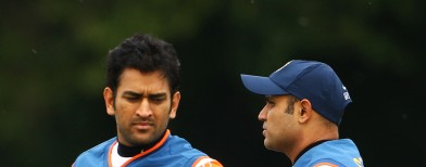 Did Dhoni send Sehwag out?